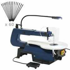vidaXL Figuurzaagmachine Elektrisch met Voetpedaal en LED-Lampje Zaag Zagen