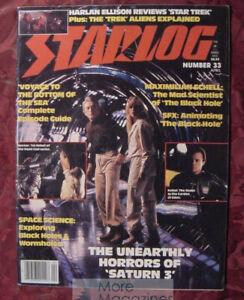 STARLOG April 1980 #33 SATURN 3 STANLEY DONEN MAXIMILIAN SCHELL HARLAN ELLISON
