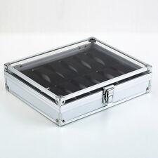 12 Grid Slots Jewelry Watches Display Storage Box Case Aluminium Square NEW FY