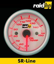 Raid hp SR-Line Öltemperatur Anzeige Zusatz Instrument 52mm Klarglas/LED rot bel