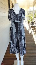 Mixit petites black grey and creme  dress  Size 16