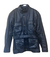 Bikers Gear Australia Black Cafe Racer Style Leather Jacket - 3XL RRP £120