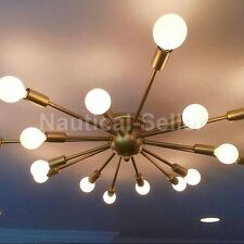 Flush Mount Modern Antique Patina Brass Sputnik Chandelier light fixture