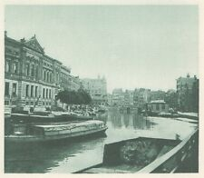 G0180 Pays Bas - Amsterdam - Le Canal - Stampa d'epoca - 1923 Old print