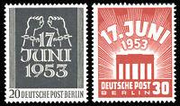 BERLIN 1953, MiNr. 110-111, 110-11, tadellos postfrisch, Mi. 50,-