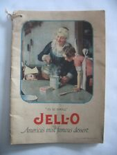 1922 JELL-O recipe book w ICE CREAM POWDER insert Norman Rockwell ad backcover