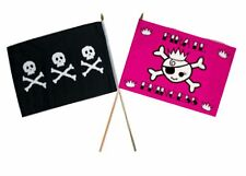 "12x18 12""x18"" Wholesale Combo Pirate Chris Condent & Pink Princess Stick Flag"