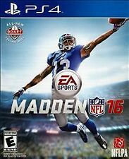 Playstation 4 PS4 Madden NFL 16 New Sealed