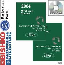 Oem Shop Manual Cd Ford Truck Excursion/F-Super Duty/F250-F550 2004