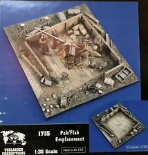 1/35 PAK FLAK EMPLACEMENT RESIN DIORAMA BASE. VERLINDEN 1715. NEW