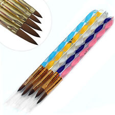 5 x Acrylic Brushes Nail Art Acrylic Brush Set Sizes 2 4 6 8 & 10 UK SELLER