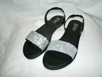 NWOB Brash Zola Rhinestone 2 Strap Sandals Black Women's Size 9