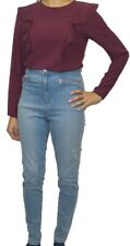Ladies Ex River Island Biker Jeans Womens Skinny Jeggins Ultra Stretch Cotton