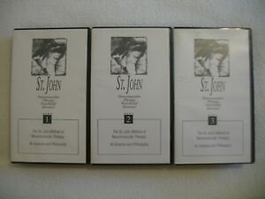 Neuromuscular Therapy Massage Lot (3) VHS Pain Relief Free Shipping
