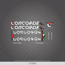 01098 Concorde Aquila Bicycle Stickers - Decals - Transfers - White