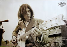 """NEIL YOUNG """"PLAYING GUITAR FROM HARVEST"""" POSTER FROM ASIA -Folk /Hard Rock Music"""