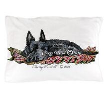 Scottish Terrier Pillow Case Sleeping Scottie Original Art Bedroom Pillow