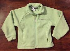 GIRLS COLUMBIA JACKET 4/5 Mint Green Fleece SPRING