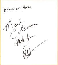 Mark Kerr Coleman Phil Baroni Signed Shikishi BAS COA UFC Pride FC Hammer House