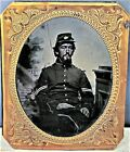 Very Rare c1862 Hand Tinted Tintype UNIFORMED CIVIL WAR SOLDIER Army Corporal for sale