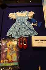 The Wizard of Oz Dorothy Halloween Costume size 2-4 toddler with Slippers Size 1