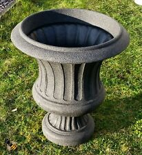 GARDEN CLASSIC URN PLANTER FLOWER POT PATIO TUB DARK GRANITE STONE EFFECT