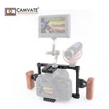 CAMVATE Camera Cage Handle Grip kit Fr DSLR Canon 60D 5D Mark11 Nikon D7000 Sony