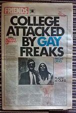 3 x Friends Alternative Underground Culture Newspaper 0ct-Now 1970 Jan 1971 Rare