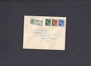 1936 Edward VIII ½d-2½d FDC Registered Fenchurch St oval handstamp
