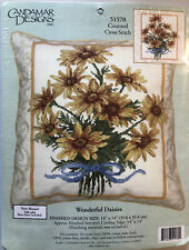 Candamar Designs Wonderful Daisies Counted Cross Stitch Kit #51570 NEW Flowers