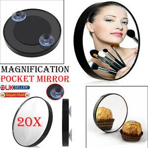 Magnifying Mirror 20x Makeup Vanity Eye Tweezing Handheld Eyebrow Make Up Pocket