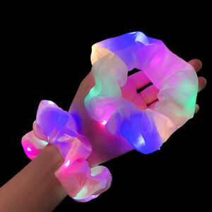 Hair Scrunchies LED Luminous Elastic Bands Bobbles Soft Ties Rope Hair Headwear