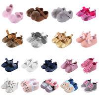 Newborn Infant Baby Girl Soft Sole Crib Shoes Anti-slip Sneaker Prewalker 0-18M