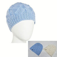 Liz Claiborne womens Spring scallop pointelle soft knit beanie hat OS NEW