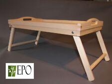 50cm x 30cm WOODEN BREAKFAST SERVING BED TRAY FOLDING LEGS TABLE