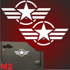 2x 30cm 8 Motive US Army Retro Sterne Auto Aufkleber Sterne USAF jeep USA Army F