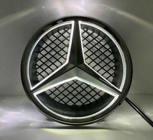 For Mercedes Benz C W204 Illuminated Led Front Star Grille Emblem White Light