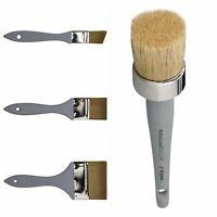"Americana Decor Chalk Paint 1"", 2"", 4"" & Round Waxing Brushes"