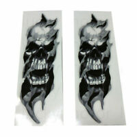 Universal Motorcycle Bike Front Fork Skull Zombie Decals Stickers Scooter Custom