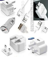 GENUINE MAINS CHARGER+CAR CHARGER+GENUINE USB CABLE FOR SAMSUNG GALAXY S5,NOTE 3