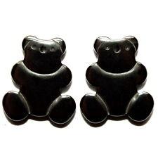 HEMATITE TEDDY BEAR PENDANT EARRING 18X20MM CHARM BEARS HC46 2 SETS