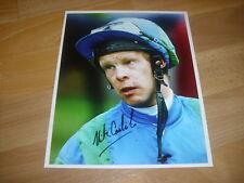 Nick CARLISLE  Horse Racing Jockey  03/06/95 Original Hand SIGNED Press Photo