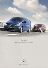 Mercedes-Benz Vito 2006-07 UK Market Brochure Panel Van Dualiner Traveliner