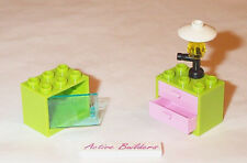 Lego Furniture Cabinet Pink Drawers Lamp 3385 Friends Shop