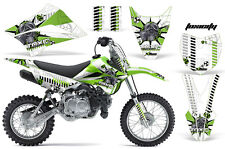 KLX110 Kawasaki Graphic Kit AMR Racing Decal Sticker Kawi Part 2010-2013 TOXIC G