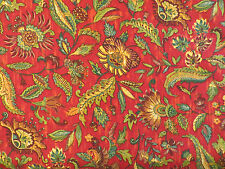 4 3/4 Yards Braemore floral decorator material by PCTurczyn in red multi
