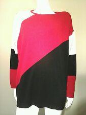 K L Collection Color- Blocking Vintage Sweater~Size XL