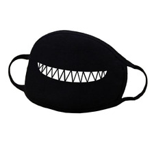 Cool Big Grin Anime Face Expression Sharp Teeth Emoji Nose Mouth Cover UK SELLER