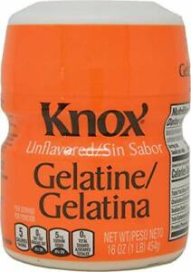Knox Unflavored Gelatin Odorless, tasteless and colorless thickening agent 1 lb