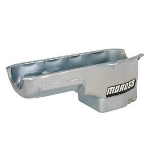 Moroso Engine Oil Pan 20230; Wet Sump 6.0qt Clear Zinc for Chevy Vega, Monza SBC